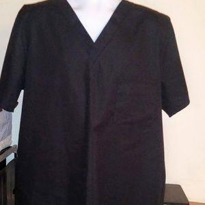 Tops - New no tag adult large black scrub top
